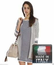 Stripes 100% Cotton Short Sleeve Casual Dresses for Women