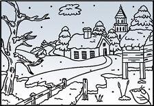 "Nellie Snellen Embossing Folder ""Snowy Village 2"" Pif006 For Cards"