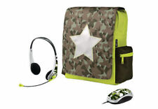 """BRAND NEW TRUST COMBAT BAG BACKPACK FOR 12"""" LAPTOP WITH MATCHING MOUSE & HEADSET"""