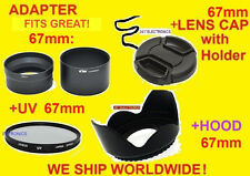 ADAPTER TUBE+LENS HOOD+UV FILTER+LENS CAP 67mm for Nikon Coolpix P510 P520 P530