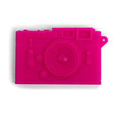 Kikkerland PINK CAMERA Business/Name Card Case Carrier OR19-PK flexible silicone