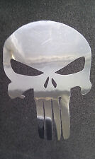 Punisher skull sticker decal X 2 Chrome 120mm car van motorcycle scooter laptop