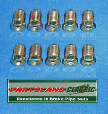 B687/10 Metric Brake Pipe Nuts 10mm x 1mm Male Short (10)