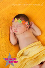 Princess-Dreams 211 Baby Mädchen SOMMER Blumen-Haarband Fotoshooting Shooting