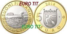 5 EURO  FINLANDE COMMEMORATIVE     NOUVEAU 2014      OISEAUX N°2      disponible