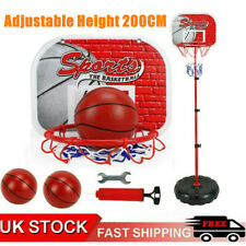 200CM Free Standing Basketball Hoop Net Adjustable Portable Backboard Stand Set