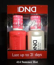DND Daisy Soak Off Gel Polish Summer Hot 414 full size 15ml LED/UV gel duo