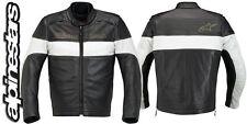 Alpinestars DRIFT Black White LeatherJacket Size EUR 46 UK 36 WHILE STOCK LAST