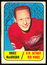 1967 68 TOPPS HOCKEY #102 BRUCE MACGREGOR VG-EX DETRIOT RED RC CARD