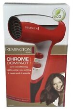 Remington D5000 1875W Chrome Compact Travel 2-speed 3-heat settings Blow Dryer