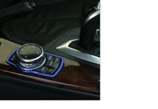 BLUE Car styling Multimedia audio control buttons trim BMW IDRIVE Sticker Series