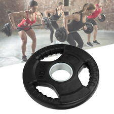 3 Holes Hand Barbell Piece Large Hole Weightlifting Weight Slice Disk Part Black