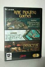 ROLE PLAYING GAMES BALDUR'S GATE II + ICEWIND DALE USATO PC CD ROM UK FR1 48507