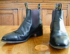 Rm Williams Black Craftsman Kangaroo? or French Veal Calf? Au 9.5G, (Us 10.5D).