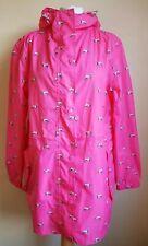 Joules - Right As Rain Jacket Rain coat Pink Dalmatian waterproof UK 14 VGC