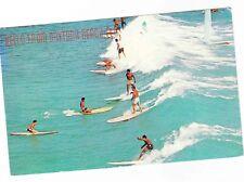 RIDING THE SURF---HELLO FROM DAYTONA BEACH FLORIDA--POSTCARD