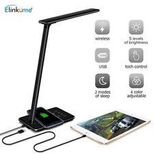 LED Schreibtischlampe mit Qi Wireless Charging Touch Dimmer Timer Tischlampe