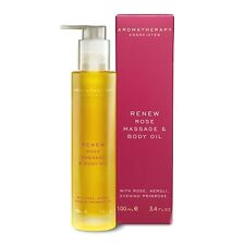 1 PC Aromatherapy Associates Renew Rose Massage Body Oil For Dry Skin 100ml