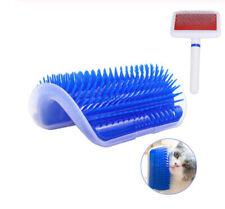 Cat Self Groomer Brush for Wall & Pet Grooming Brush Set- Prevents Hairballs NEW