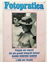 FOTO PRATICA 213 SETTEMBRE 1986 GIANI BERENGO GARDIN - RITRATTO - KINDERMANN