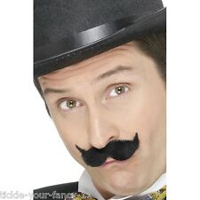 Mens Edwardian Handlebar Moustache Accessory Tash Old England Posh Victorian Man
