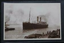 WHITE STAR LINE RMS LAURENTIC LIVERPOOL MERSEY ORIGINAL PHOTO POST CARD