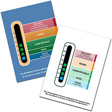 Twin Pack Energy Saving Eco Room Thermometer card wipe clean surface- Baby