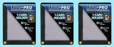 3 ULTRA PRO BLACK FRAME 1 CARD SCREWDOWN HOLDER Recessed 4 Screw Display Border