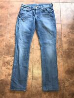 7 Seven for all Mankind Roxanne skinny jeans Sz 26 (30 x 29) light distressed