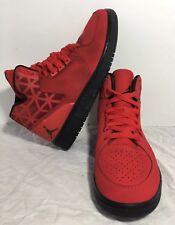 407f8691be0b Nike Air Jordan Boys Red Black Athletic Basketball Shoes 707320-606 Size  5.5Y