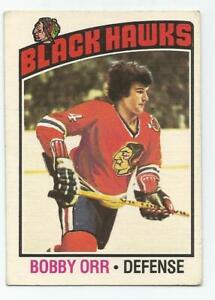 1976/77 OPC Bobby Orr #213 Chicago Blackhawk VG Cond