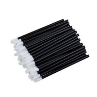 100 Pcs Pinceau a levres Brillant Jetables Baguettes Applicateur Maquillage C Zl