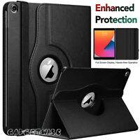 """For Apple iPad 10.2"""" (2020) 8th Generation 360° Rotating Leather Slim Case Cover"""