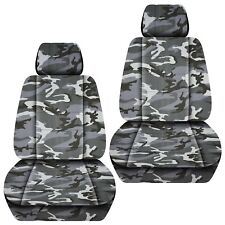 Fits 2011-2018 Hyundai Accent front set car seat covers CAMOUFLAGE DESIGN