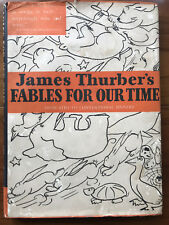 Fables For Our Time, by James Thurber - 1943 -  Vintage Hardcover Book w/ DJ