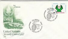 United Nations 1977 Security Council FDC Geneva Cancel Unadressed VGC