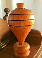"Solid Wood - Spinning Top Pencil Holder - 6"" TALL  X 3"" W."