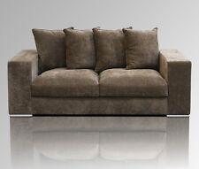 Amaris Elements | Sofa 2 Sitzer 2m braun Samt modern 2er Couch 200x106xH65cm