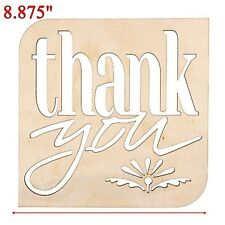 Diy Wooden Unfinished Thank You Sign Wedding Decor Photo Booth Prop Laser Cut