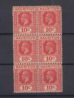Mauritius KGV 1921 10c Block Of 6 SG230 MNH J7230