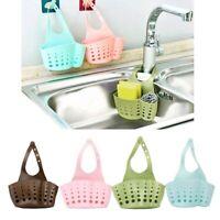 Drain Holder Sponge Storage Basket Pouch Organizer Kitchen Snap-on Sink Shelf