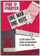 International Fire Fighter Magazine March 1970 AFL-CIO Voting