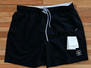 GIVENCHY SWIMMING SHORTS FOR MEN BLACK COLOR POCKETS 3XL SIZE TRUNKS