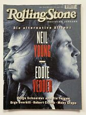 **NEIL YOUNG / EDDIE VEDDER GERMAN ROLLING STONE MAGAZINE AUGUST 1995**