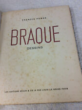 BRAQUE: DESSINS by Francis Ponge- 1950 1st edition, study of French artist