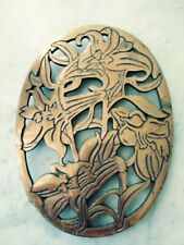Floral Copper Trivits/ Wall Hanging