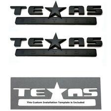 2Pc 3D Texas Edition Emblem For Gm Chevy Silverado Sierra Truck Universal Decal