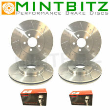 Mazda RX8 Front Rear Dimpled Grooved Brake Discs & Brembo Pads 323mm