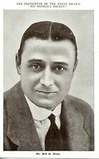 MR WILL H.GLAZE - PROPRIETOR OF THE GREAT DRAMA HIS MOTHERS ROSARY POSTCARD