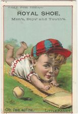 1880s M.F. Tobin Baseball Chromolithograph Trade Card - Base Runner